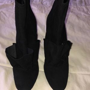 Zara Black High Heel suede boots